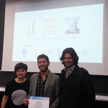 Alba Forés, Mariano Collantes i Rubén Soler reben el Premi Joan Oró 2015