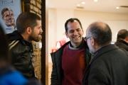 """Marc Serena amb els assistents a la projecció de """"Tchindas"""" als Cinemes Girona"""
